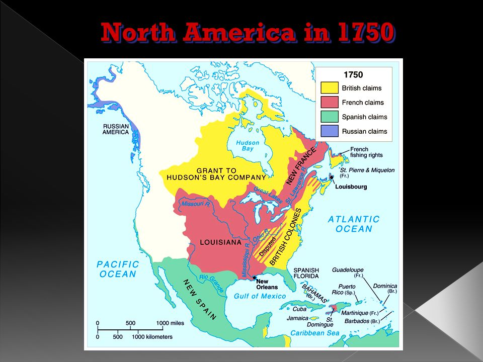  The rivalry in North America between Britain and France led to the French and Indian War, in which the French were driven out of Canada and their te