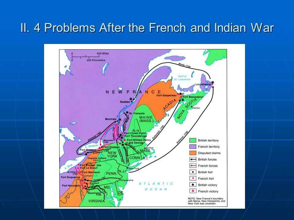 II. 4 Problems After the French and Indian War