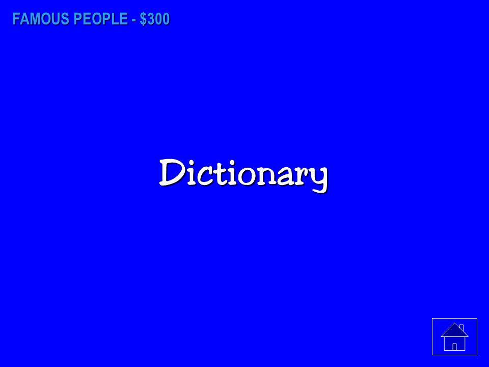 FAMOUS PEOPLE - $200 Samuel L. Clemens