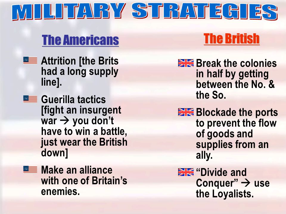 Attrition [the Brits had a long supply line].