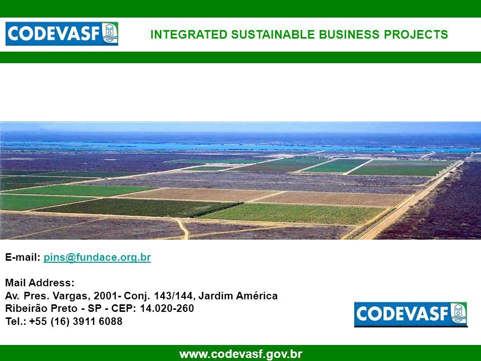 37 www.codevasf.gov.br For further Information: E-mail: pins@fundace.org.brpins@fundace.org.br Mail Address: Av.