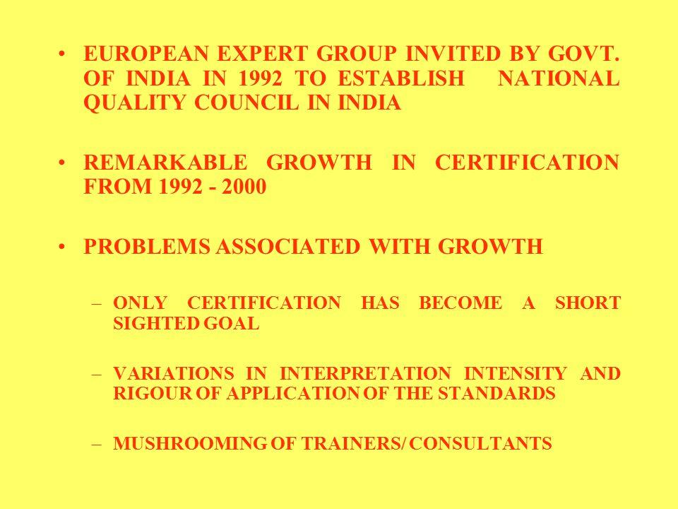 EUROPEAN EXPERT GROUP INVITED BY GOVT.