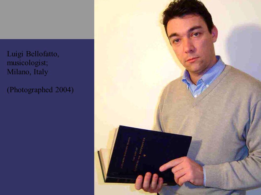 Luigi Bellofatto, musicologist; Milano, Italy (Photographed 2004)