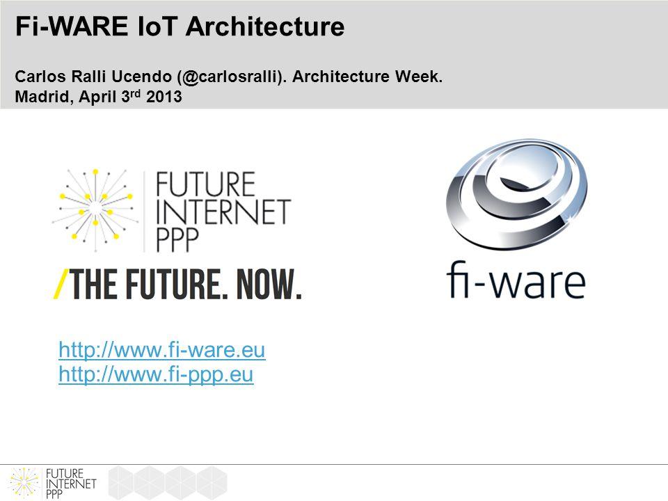 http://www.fi-ware.eu http://www.fi-ppp.eu Fi-WARE IoT Architecture Carlos Ralli Ucendo (@carlosralli).
