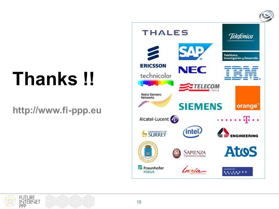 15 Thanks !! http://www.fi-ppp.eu