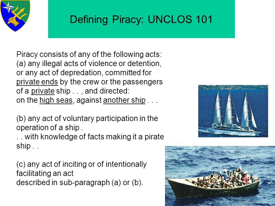 Other Applicable International Regimes Convention for the Suppression of Unlawful Acts against the Safety of Maritime Navigation (SUA) 1988 – an offense to seize control of a ship by use or threat of force.