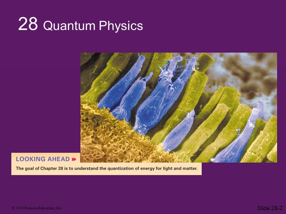 © 2010 Pearson Education, Inc. Slide 28-2 28 Quantum Physics