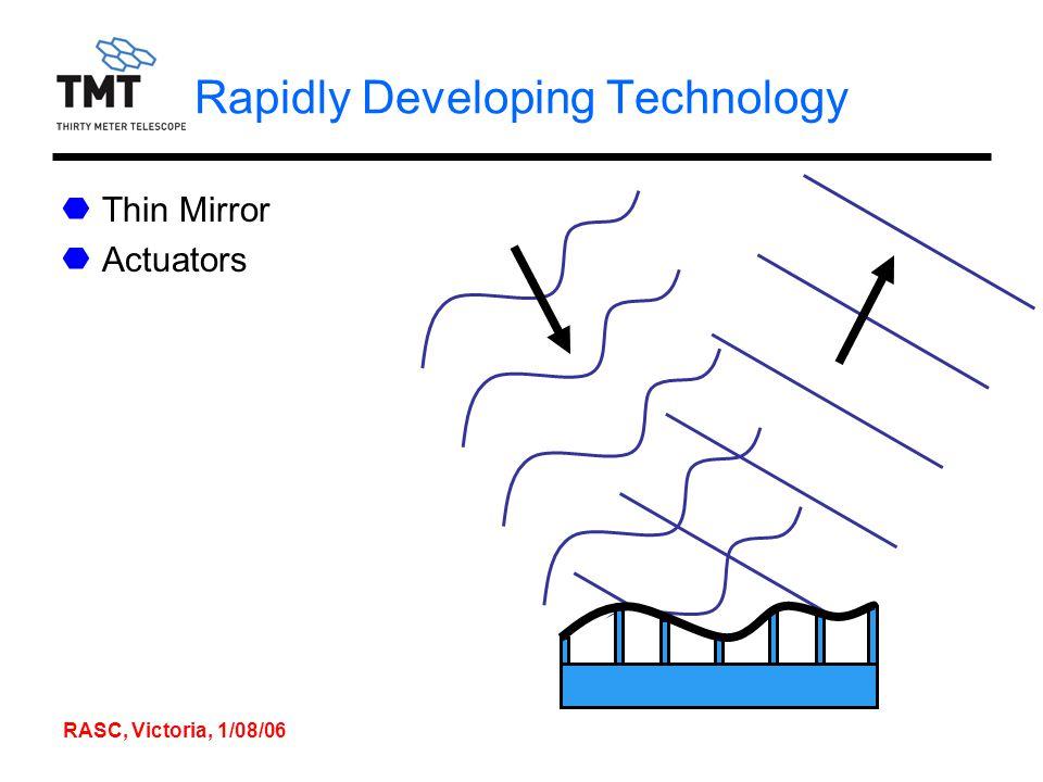 RASC, Victoria, 1/08/06 Rapidly Developing Technology Thin Mirror Actuators