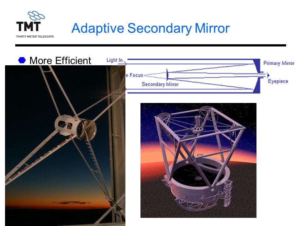 RASC, Victoria, 1/08/06 Adaptive Secondary Mirror More Efficient Costly Risky