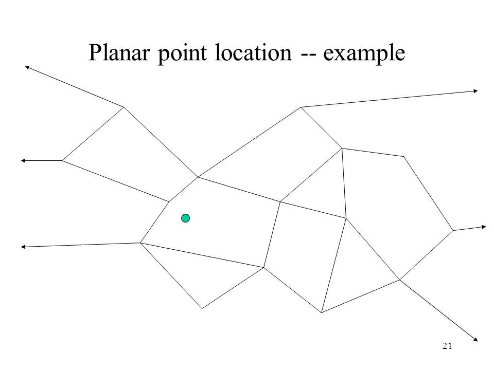 21 Planar point location -- example