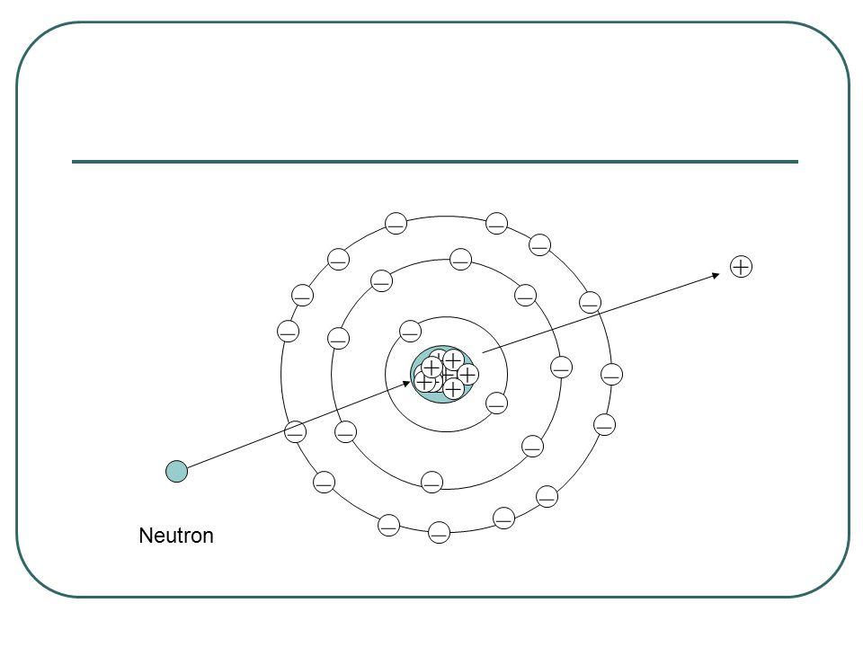 – – – – – – – – – –– – – – – – – – – – – – – – – + + + + ++ + + ++++ + Neutron +