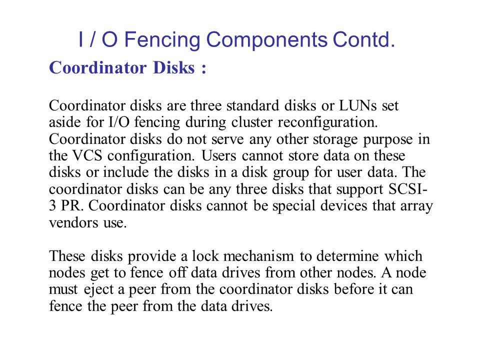 I / O Fencing Components Contd.