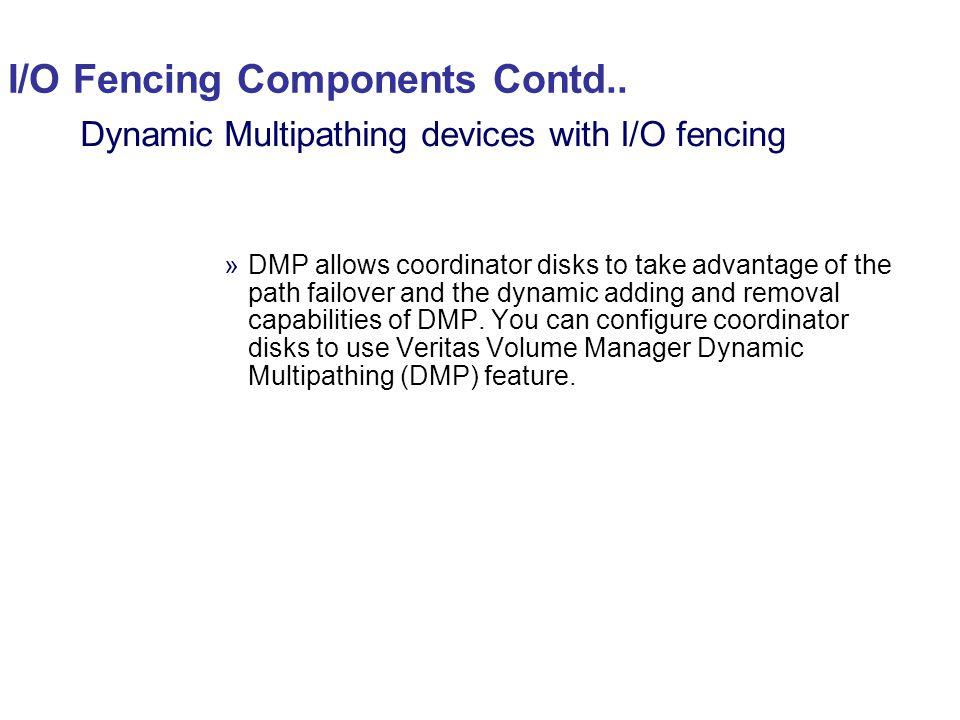 I/O Fencing Components Contd..