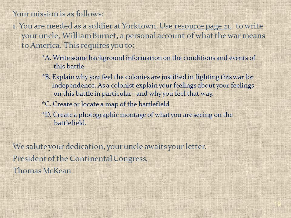 Dear Patriots, Good work on the completion of your Missions.