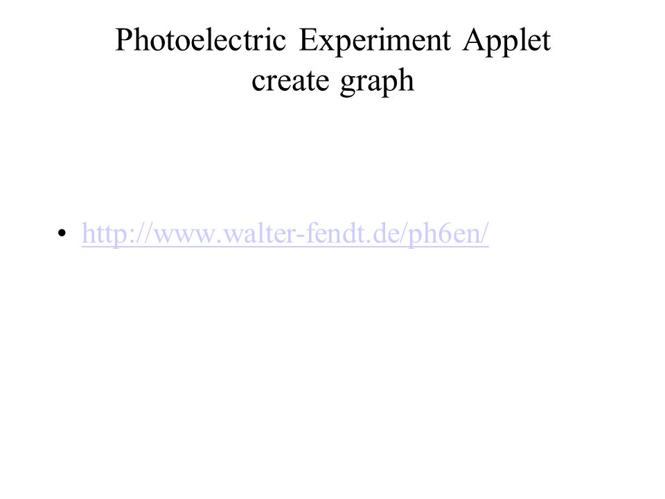 Photoelectric Experiment Applet create graph http://www.walter-fendt.de/ph6en/