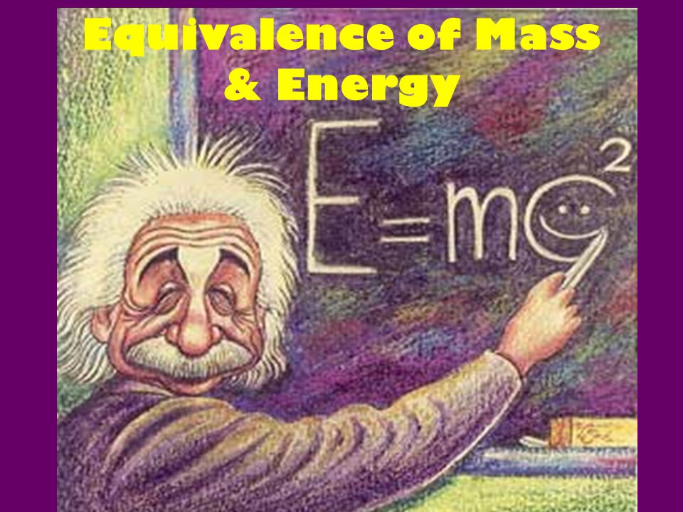 Equivalence of Mass & Energy