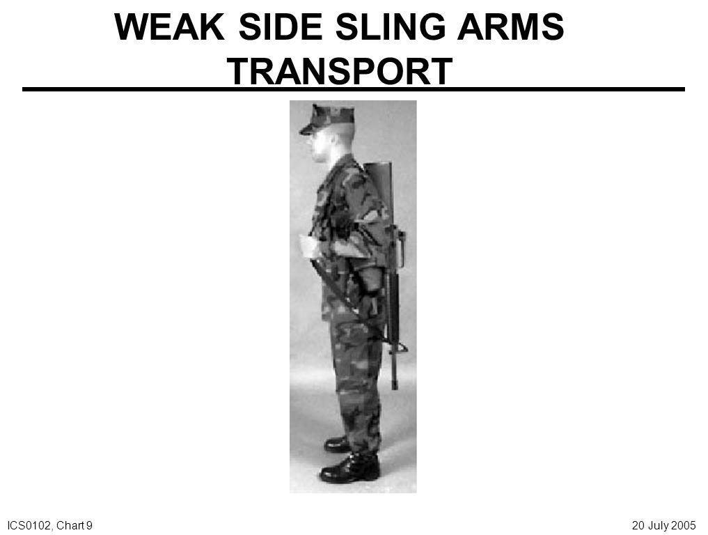 CROSS BODY SLING ARMS TRANSPORT ICS0102, Chart 10 20 July 2005