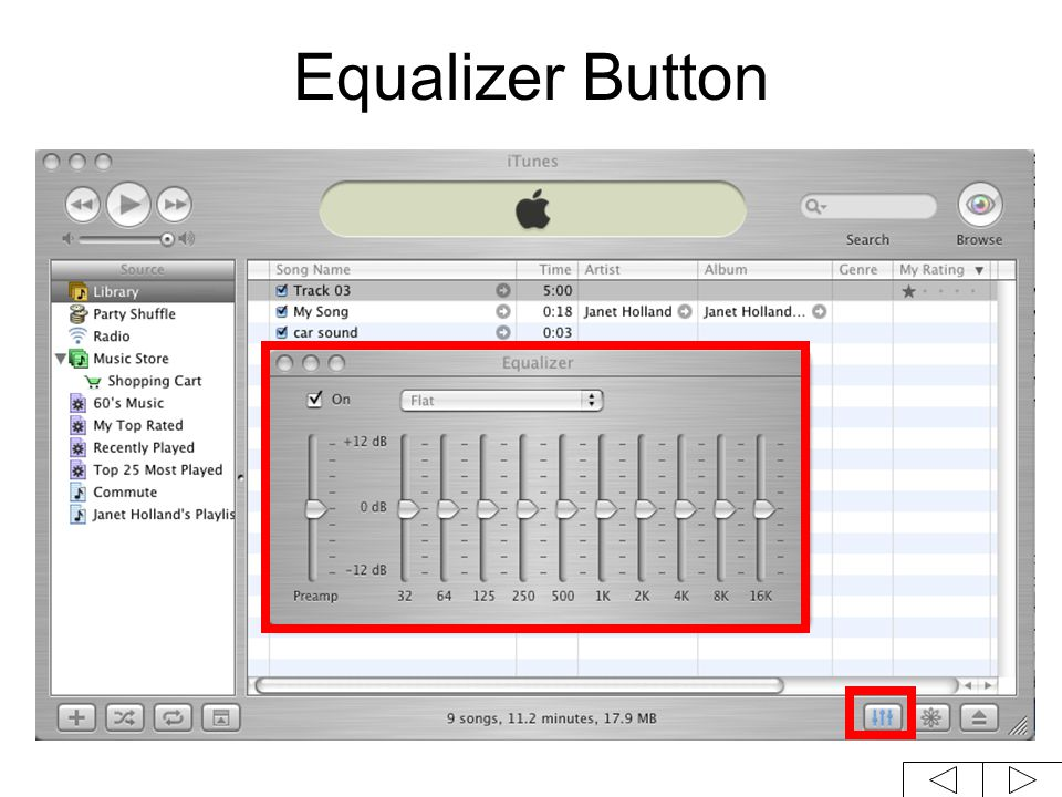 Equalizer Button