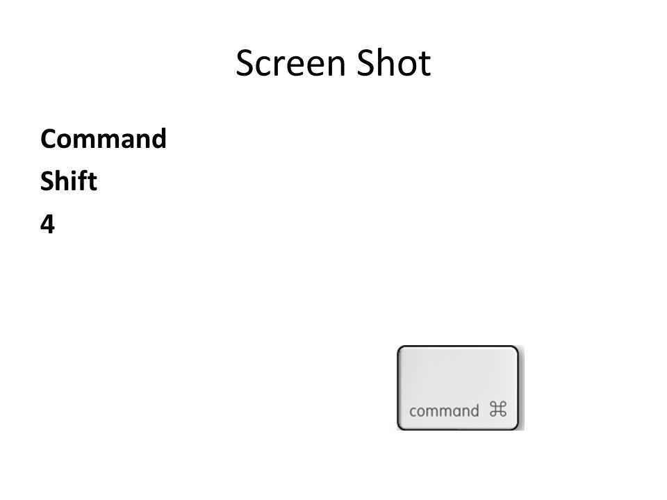 Screen Shot Command Shift 4