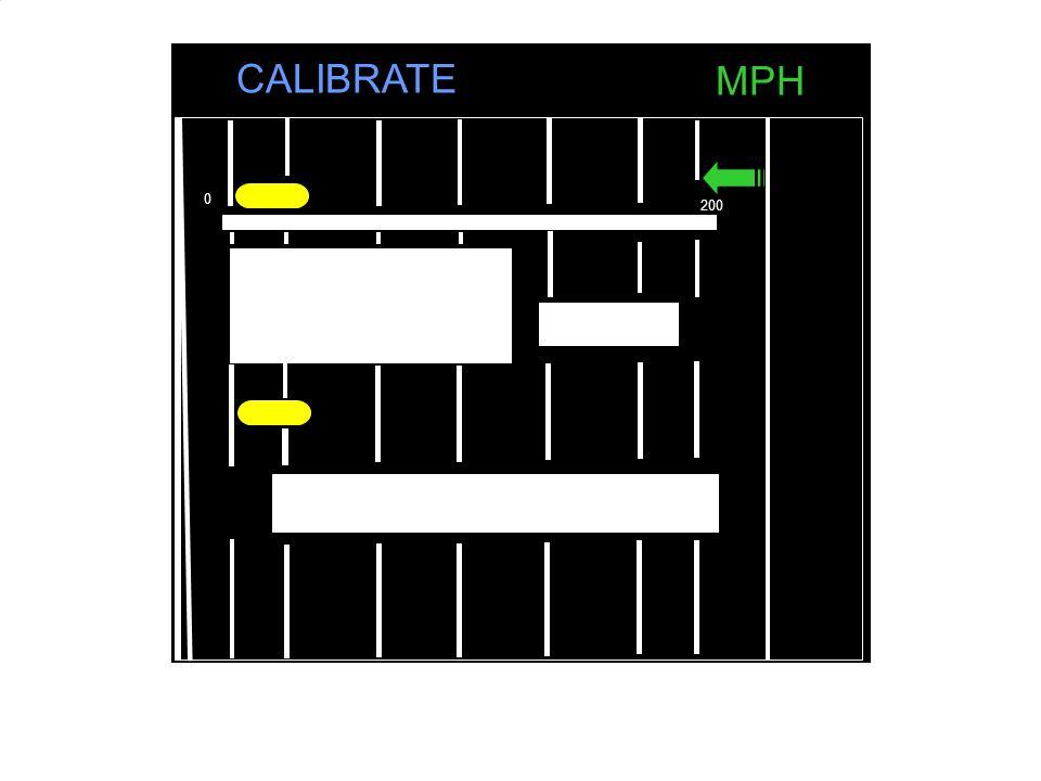 100 200 100 0 MPH CALIBRATE