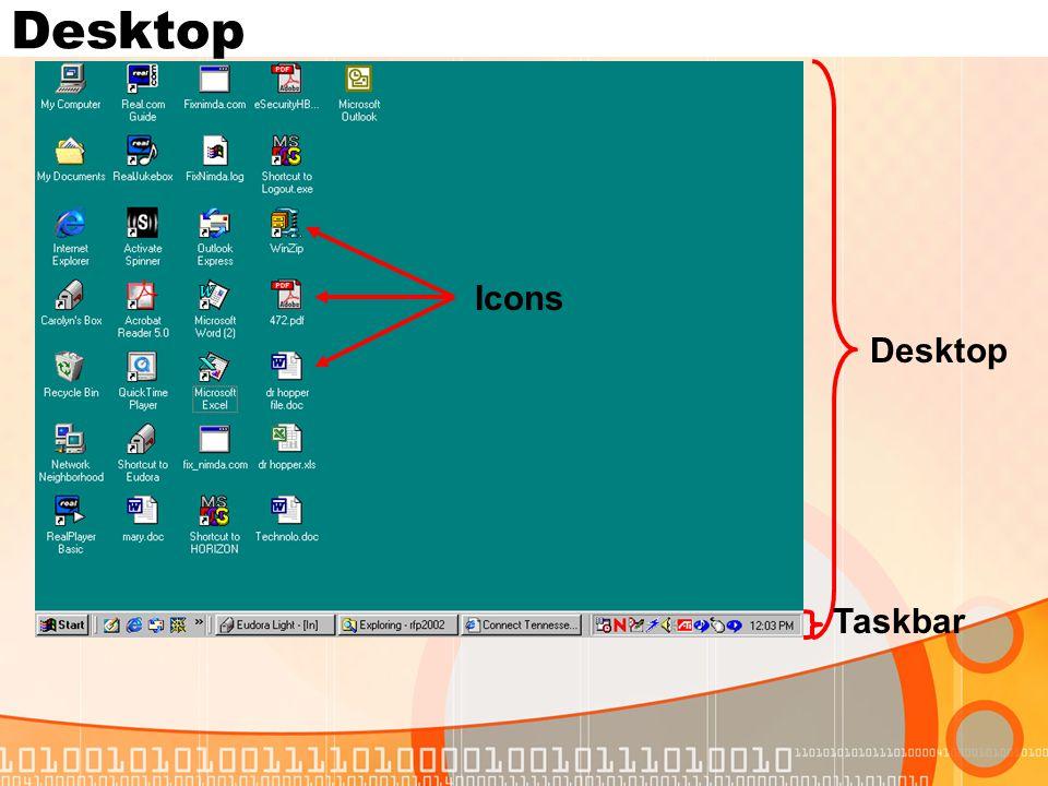 Desktop Taskbar Icons Desktop
