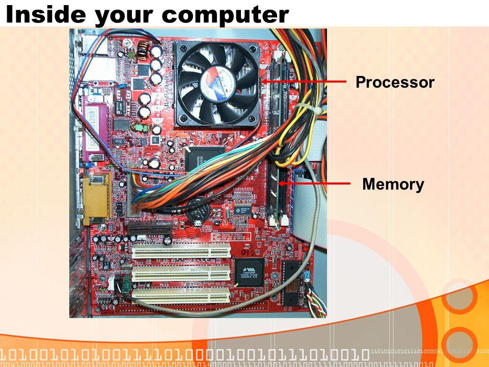 Inside your computer Processor Memory