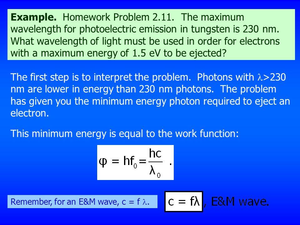 Example. Homework Problem 2.11.