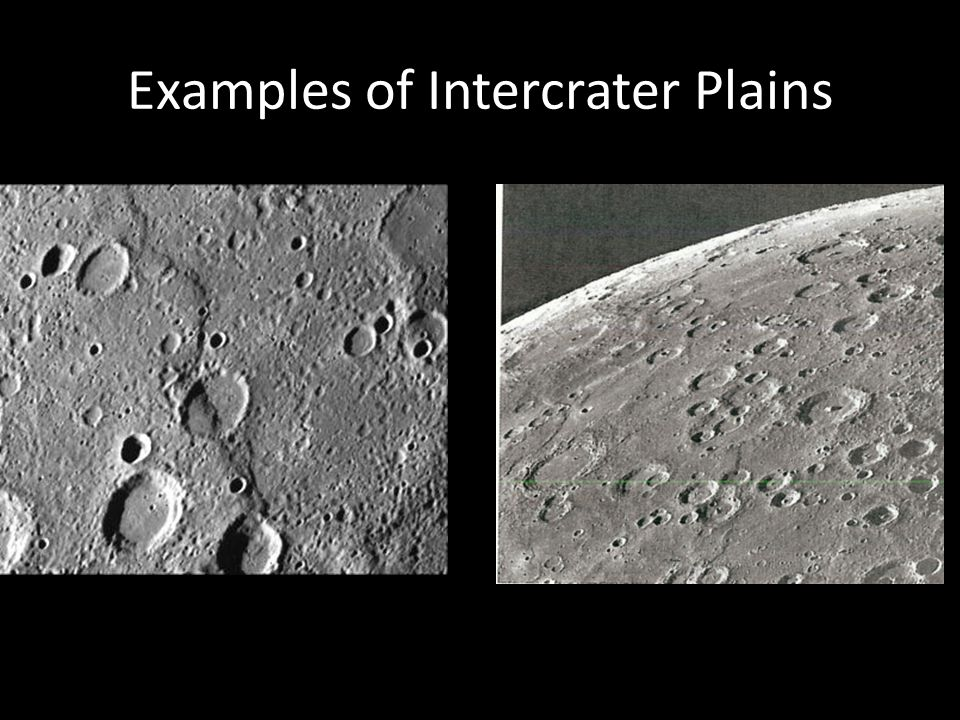 Examples of Intercrater Plains
