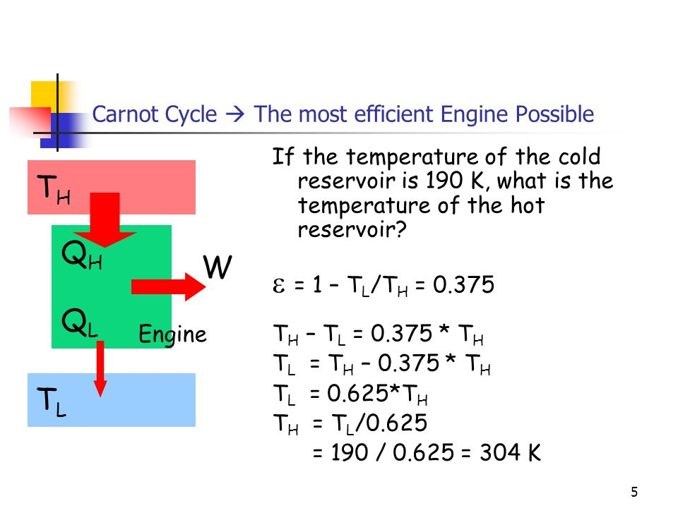 4 Carnot Cycle  The most efficient Engine Possible What is it's efficiency.