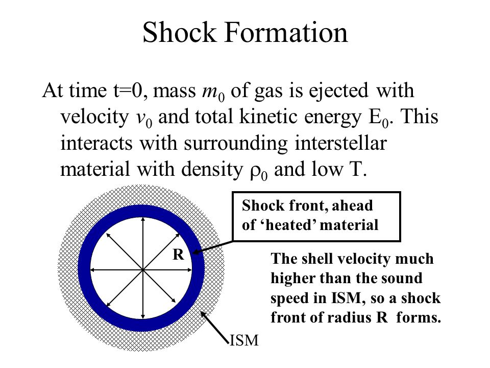 At time t=0, mass m 0 of gas is ejected with velocity v 0 and total kinetic energy E 0.