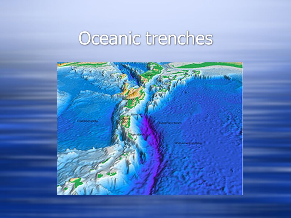 Oceanic trenches