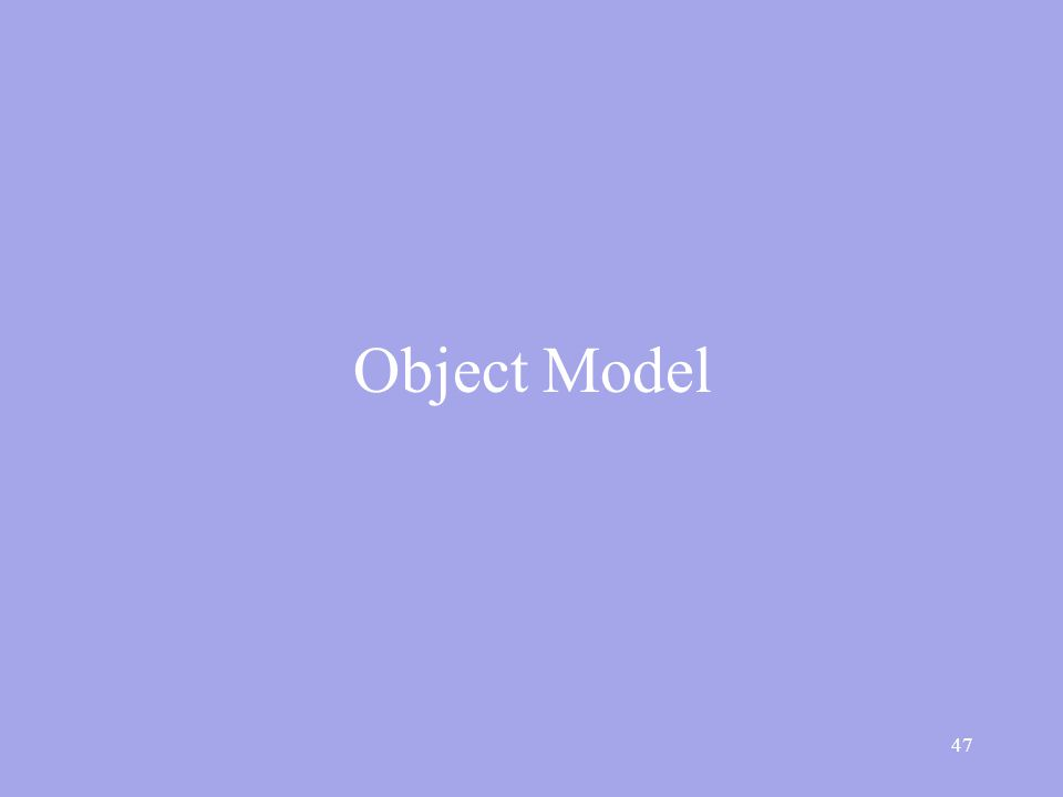47 Object Model