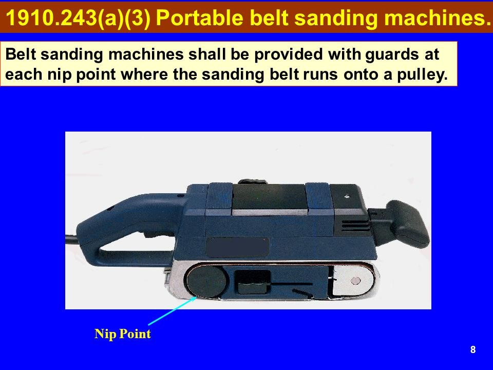 9 Portable electric powered tools shall meet the electrical requirements of subpart S of this part.