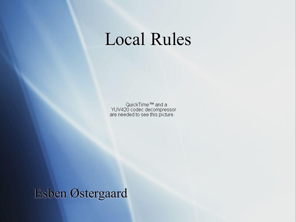 Local Rules Esben Østergaard