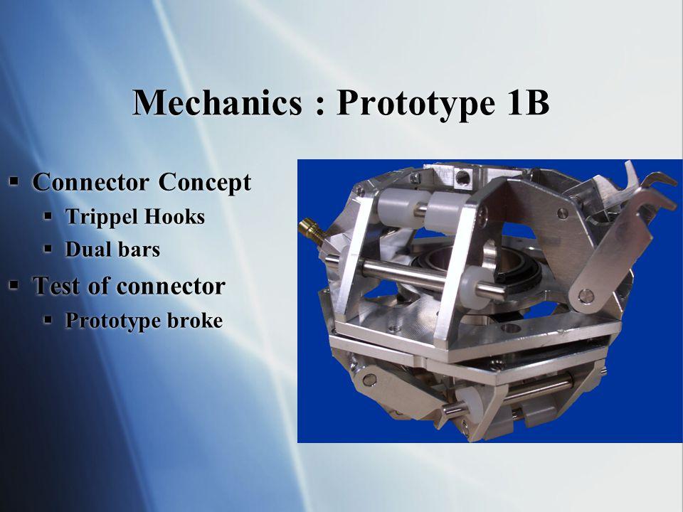 Mechanics : Final Prototype  Improved main bearing  Improved connector- mechanism  Improved main bearing  Improved connector- mechanism