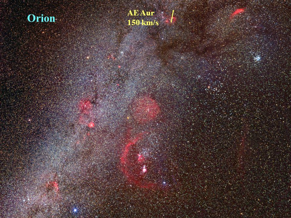 Orion AE Aur 150 km/s