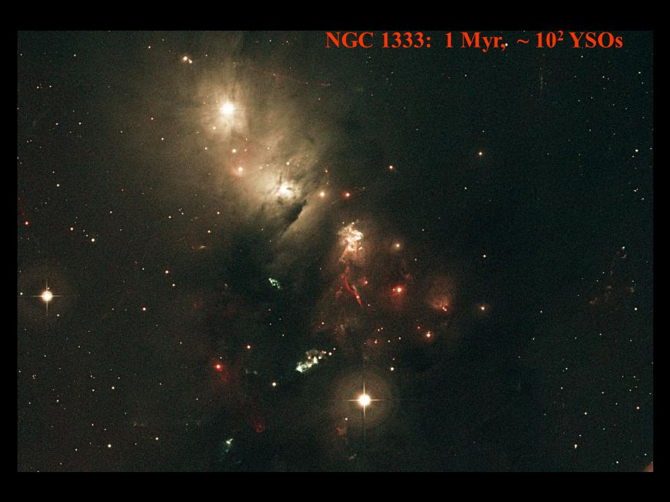 NGC 1333: 1 Myr, ~ 10 2 YSOs