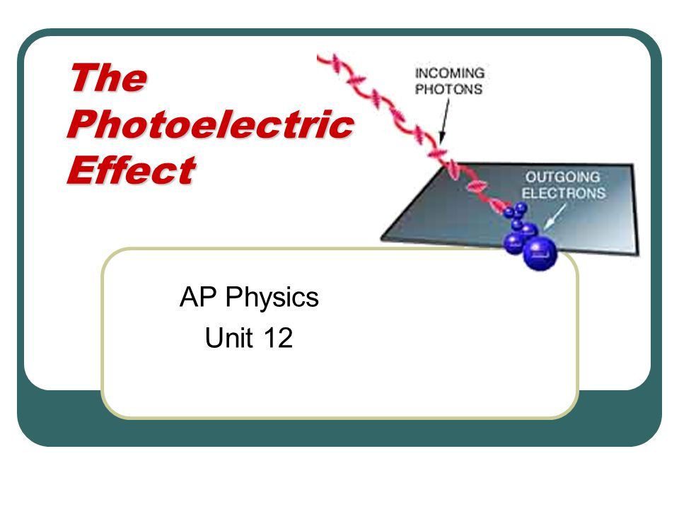 The Photoelectric Effect AP Physics Unit 12