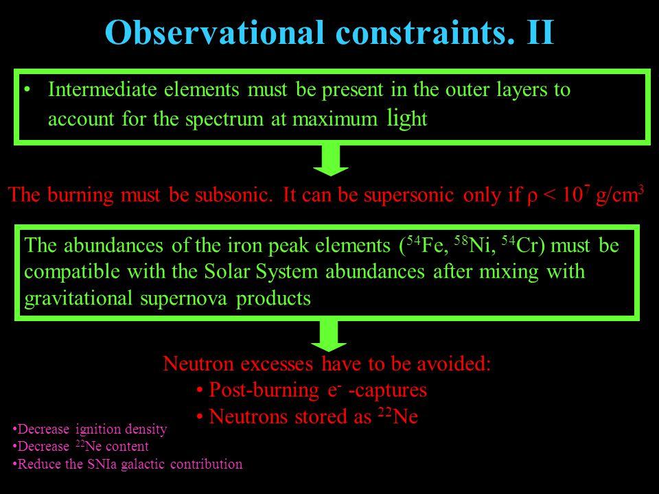 Observational constraints.