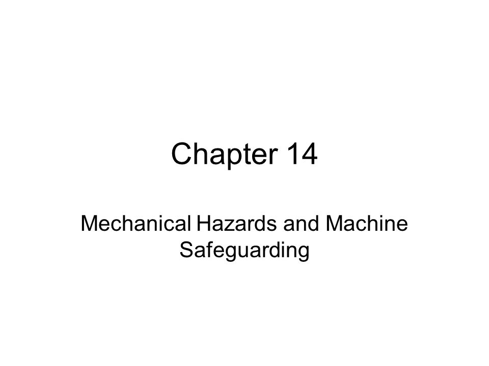 Major Topics OSHA's requirements regarding machine guarding Risk assessment in machine guarding Robot safeguards Lockout/tagout systems General precautions Taking corrective action