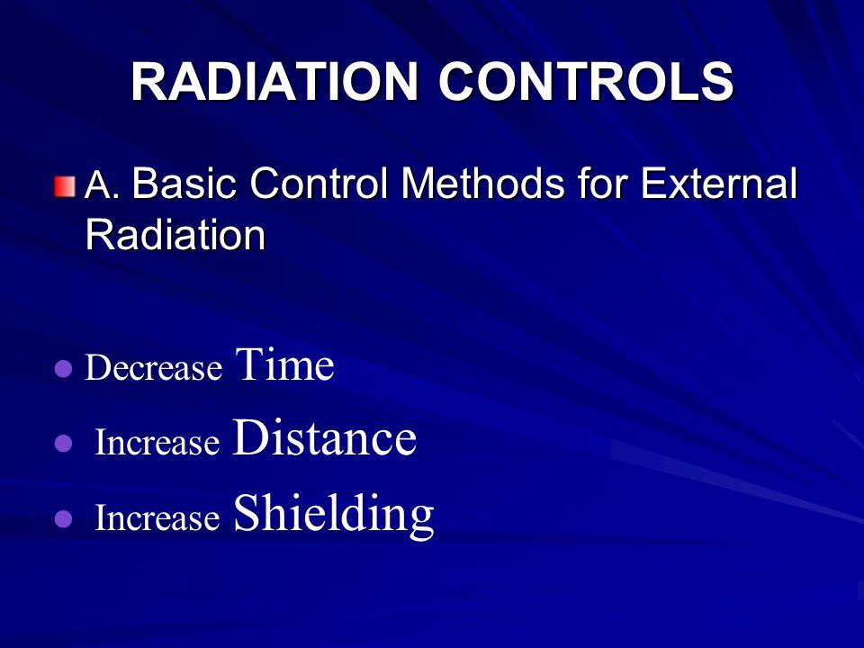 RADIATION CONTROLS A.