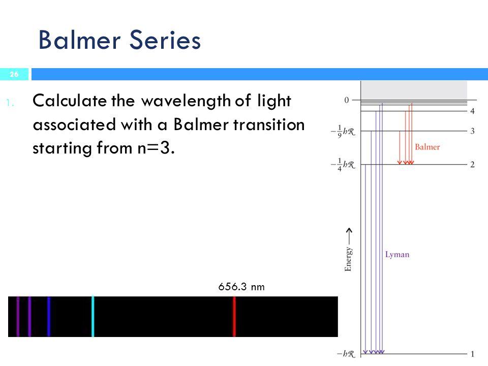 Balmer Series 1.