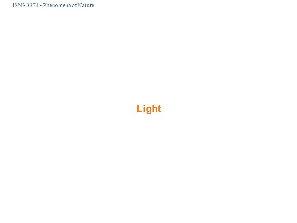 ISNS 3371 - Phenomena of Nature Light