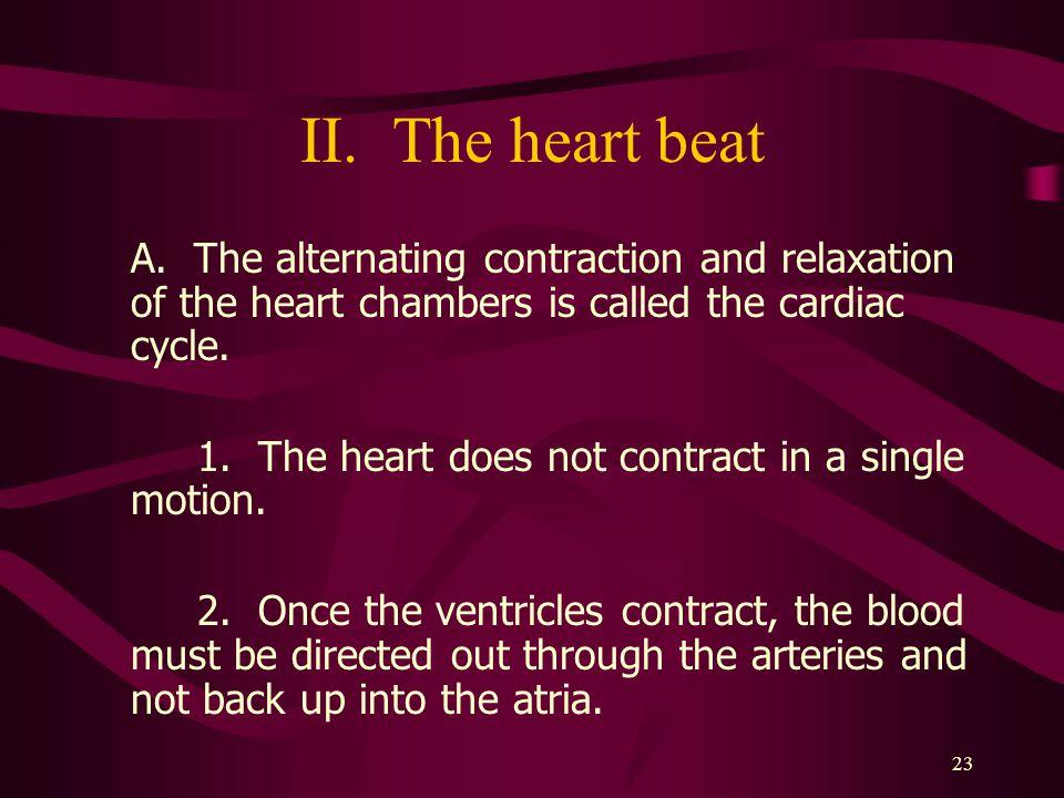 23 II.The heart beat A.