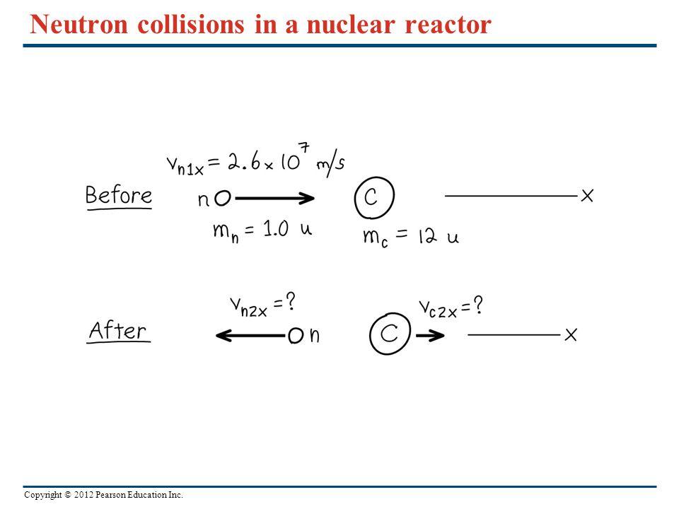 Copyright © 2012 Pearson Education Inc. Neutron collisions in a nuclear reactor