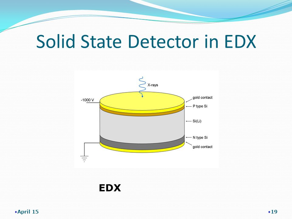 Solid State Detector in EDX April 15 19 EDX