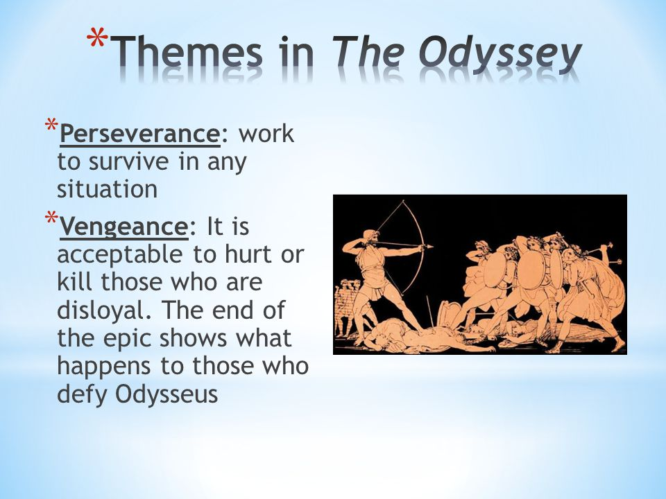 * Perseverance: work to survive in any situation * Vengeance: It is acceptable to hurt or kill those who are disloyal.