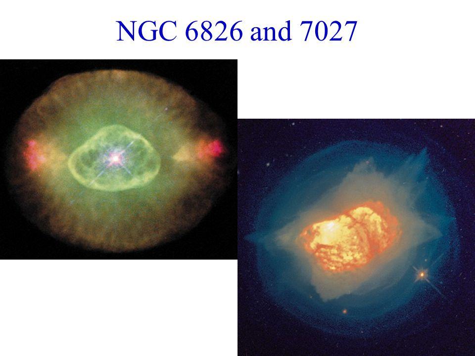 NGC 6826 and 7027