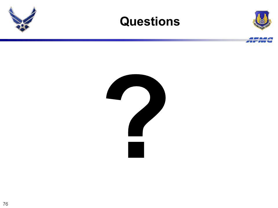 76 Questions ?