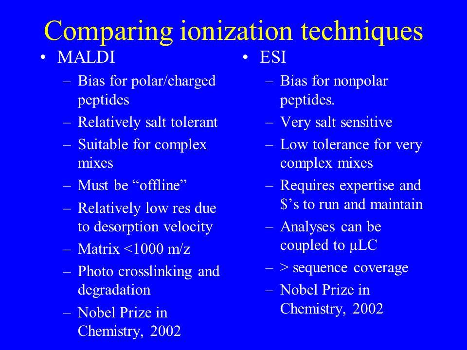 The challenge of gel-less proteomics: quantitation Why is quantitation important.